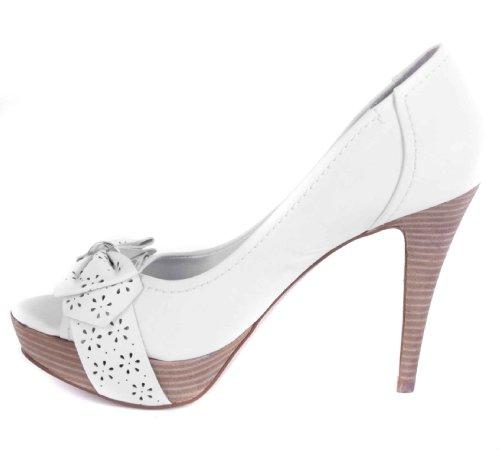 Guess - Zapatos de vestir de cuero para mujer Blanco Blanc - Blanc 41