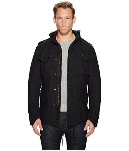 Alpha Industries Men's M 65  Defender Field Coat, Black, Medium