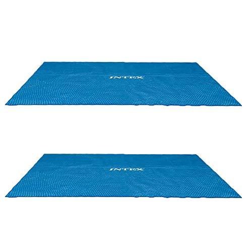 (Intex 9 x 18 Foot Rectangular Solar Frame Set Swimming Pool Cover (2 Pack))