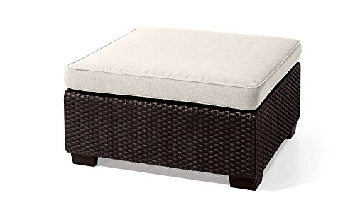 Amazon.com : EFD Rattan Wicker Ottoman Cushion Brown Frame