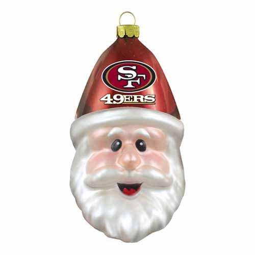 NFL San Francisco 49ers Santa Cap Ornament