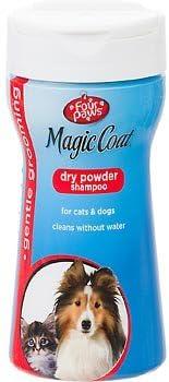 Cuatro patas Magic Coat polvo seco Champú para perros y gatos ...