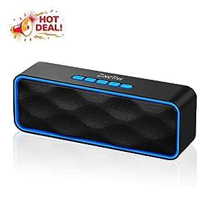 ZoeeTree S1 Haut-parleur Bluetooth sans fil, Extérieur, Enceinte stéréo avec Audio HD et Basses Amélioré, Intégré Double Pilote Haut-parleur, Bluetooth 4.2, Mains Libres Téléphone et TF - Blue 6