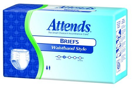 Attends Undergarments - Attends Care Waistband Style Briefs with Odor-Shield for Adult Incontinence Care, Medium, Unisex, 22 Count (Pack of 4)