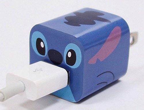 Disney Apple iPhone 5W Power Adapter Skin Sticker Decoration Wrap - Sticker Only Not Include USB (Stitch)