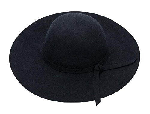 East Majik Black Ladies Winter Vintage Fedora Hat Top Hat