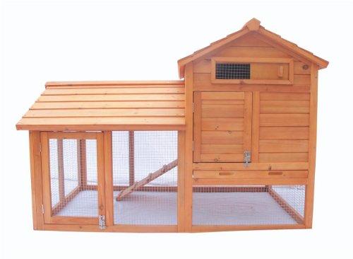 """Ardinbir 58"""" Deluxe 2 Storey Solid Wood Chicken Coop Hen ..."""
