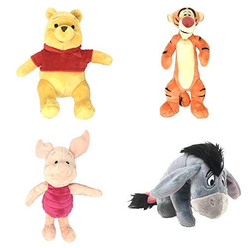 (Disney Winnie The Pooh Mini Bean Bag Plush Set of 4 (Winne The Pooh, Tigger, Piglet,)