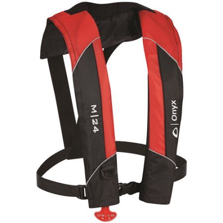 Onyx M-24 Manual Inflatable Vest, Red