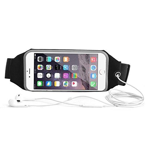 Sports Running Gym Waist Belt Bag Case for iphone 6 Plus 5.5 Black - 5