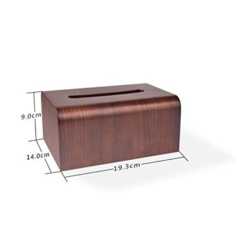 Creative Wooden Tissue Box Holder Cover for Home Office Car Decor by YANXH home (Image #1)