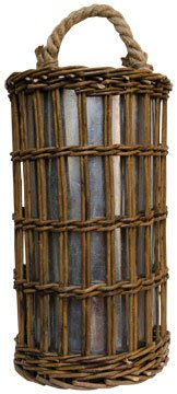 Woven Willow Twig Woven Wall Planter Galvanized Metal Insert Cup Country Primitive Floral Décor (Wall Willow)