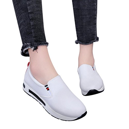 Clearance! Women Sneakers, Neartime Fashion Casual Flat Thick Basic Shoes Slip On Ankle Boots Platform Sport Shoes
