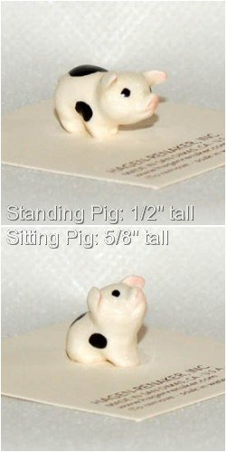 Hagen Renaker Miniature Hand-painted Ceramic Pig Baby for sale  Delivered anywhere in USA