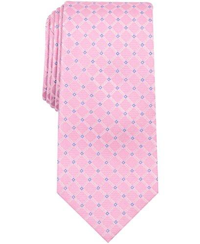 Nautica (NAV5C) Men's Skipper Grid Tie, Pink, One - Tie Nautica Mens