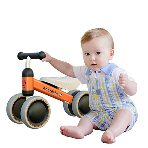 Ancaixin Baby Balance Bikes Bicycle Children Walker 10 Month - 24 Month Toys for 1 Year Old No Pedal Infant 4 Wheels Toddler Top First Birthday New Year Gift -