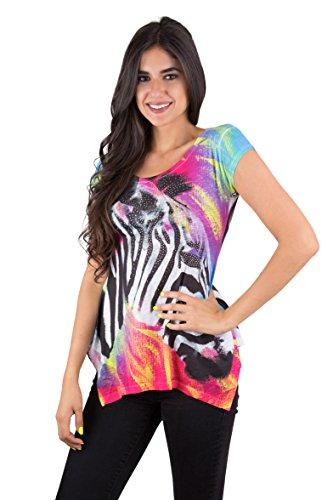 Colorful Zebra T shirt
