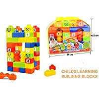 TEMSON Kids Big Size Blocks Set in Bag (Multicolored) - 30 Pieces