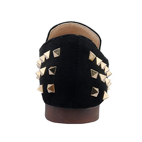Rivets Flates Black Femmes RAZAMAZA Mode Escarpins xEIX6q