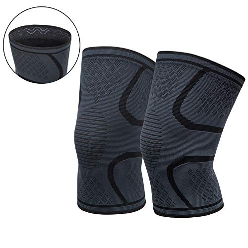 OFTEN Knee Brace Compression Sleeve Knee Support Braces (1 Pair) for Meniscus Tear, Arthritis, Joint Pain Relief, Injury Recovery, ACL, MCL, Running, Workout, Basketball, Sports