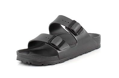 d2ebbca30b062 Birkenstock Women's Arizona EVA Sandals, Metallic Anthracite, 39 Narrow EU,  8-8.5 US