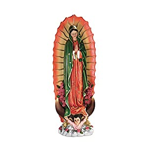 Design Toscano The The Virgin of Guadalupe Religious Garden Decor Statue, Medium, Full Color
