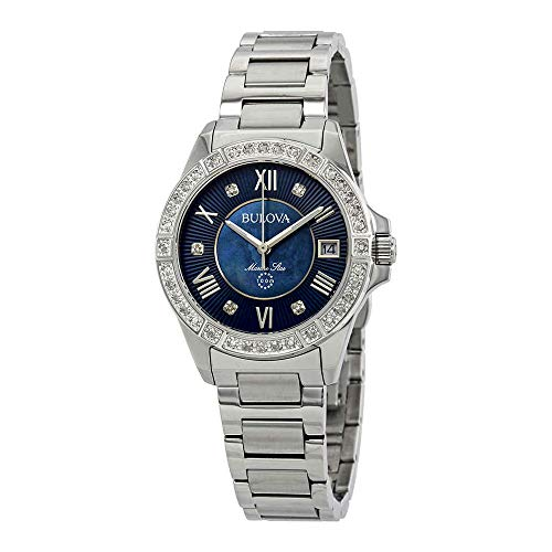Bulova Women's Quartz Stainless Steel Casual Watch, Color:Silver-Toned (Model: 96R215) ()