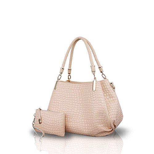 Totes Handbag amp;Doris Grain Shoulder Large Leather Bag PU New Crocodile Nicole Crossbody Women Khaki Bag Khaki Ladies wv84xq7wdt