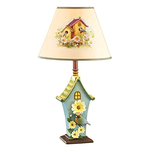 Spring Bird House Table Lamp, Bird