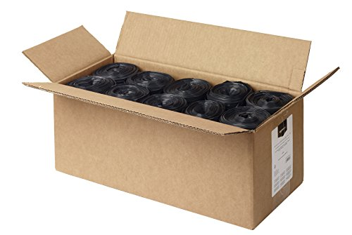AmazonBasics 23 Gallon Slim Trash Can Liner, 1.6 mil, Black, 250-Count by AmazonBasics (Image #3)