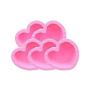 Riverbyland Heart Shape Silicone Ice Cube Trays Set of 5