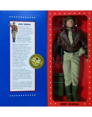 G.I. Joe Year 1996 Limited Edition World War II 50th Anniversary Commemorative 12 Inch Tall Action Figure - ARMY GENERAL with Dark-Shade Winter Shirt, Khaki