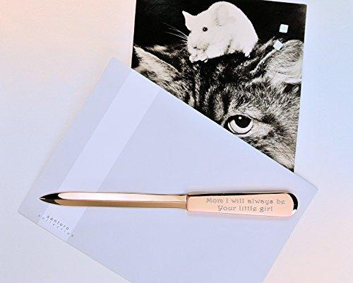 Personalized rose gold letter opener custom engraved free for Rose gold letter opener