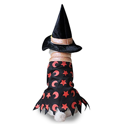 Halloween Pet Costumes, Misaky Party Dressing Up for Puppy/ Cat (S, Black)