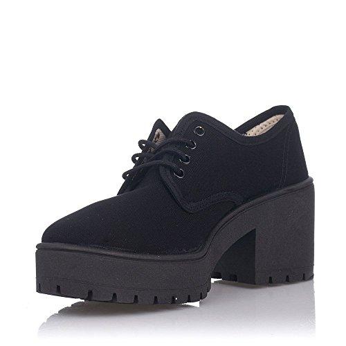 Zapatillas Victoria 09501 - Tácon de Lona Negro