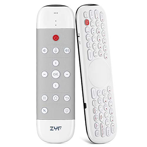 ZYF Z10 Air Mouse Remote, 2.4G Backlit Voice Remote Control with Wireless Keyboard Touchpad, Anti-Lost, for Nvidia…