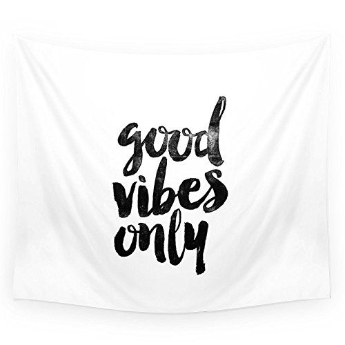 Society6 Good Vibes Only Black And White Typography Print In