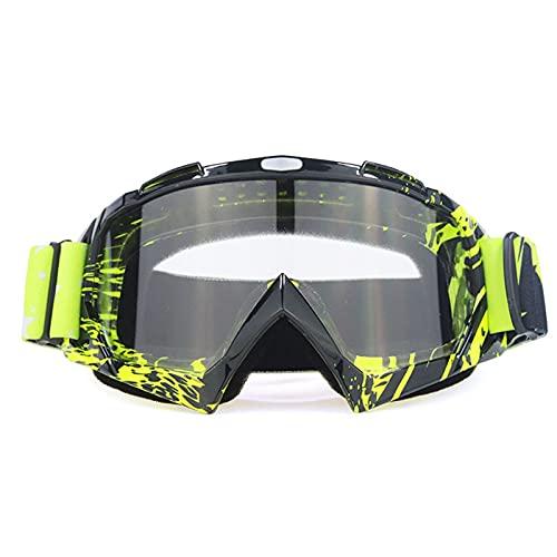 LHSJYG Motorradbrille Motorradbrille Off-Road-Helm-Ski-Casque-Motorrad-Brille Brillen-Snowboard-Racing Moto-Bike…