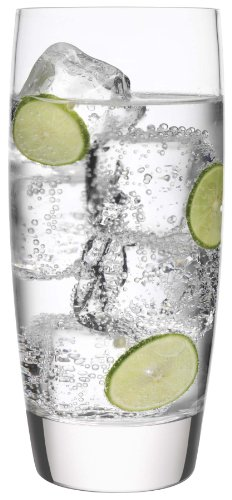 Luigi Bormioli Michelangelo Cooler/Iced Tea Glass, 20-Ounce, Set of 6