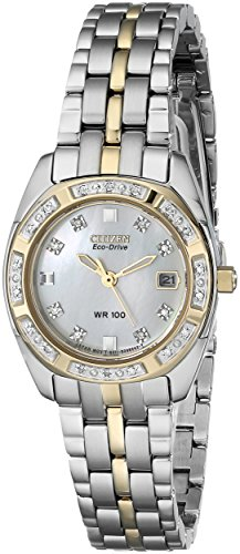 Citizen Women's Eco-Drive Watch with Diamond Accents and Date, EW1594-55D