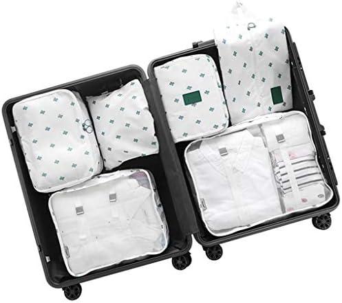 7個の荷物旅行パッキングオーガナイザー、パッキングキューブ、旅行収納袋軽量荷物旅行キューブ衣類仕分けパッケージ,C