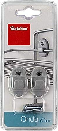 Metaltex Ganchos para ordenación de baño, Gris Metalizado: Amazon ...