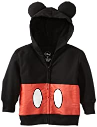 Disney Little Boys\' Toddler Mickey Mouse Hoodie, Black, 4T