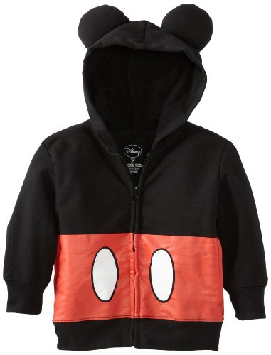 Disney Little Boys Toddler Mickey Mouse Hoodie  Black  3T