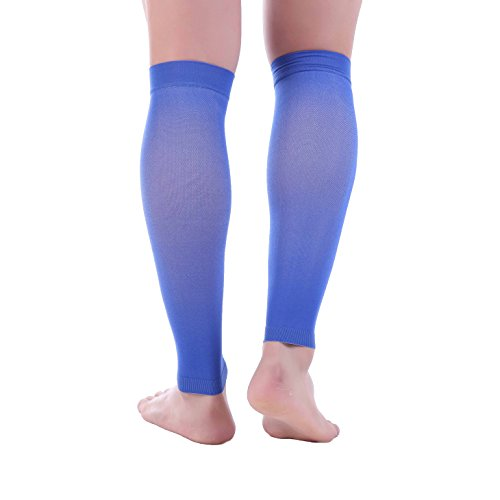 - Doc Miller Premium Calf Compression Sleeve 1 Pair 20-30mmHg Strong Calf Support Multiple Colors Graduated Pressure for Sports Running Muscle Recovery Shin Splints Varicose Veins (Blue, XX-Large)