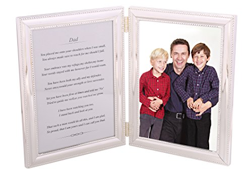 Golden Tree Gifts Picture Frame for Dad from Daughter or Son - A Heartfelt Poem + Your Personalized Photo in a Beautiful Silver-Plated Double Picture Frame. Dad Frame Makes a Great Present! ()