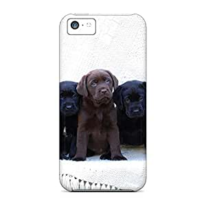 Anti-scratch cell phone shells fashion case cover iphone 5c case 6p - cute labrador puppies