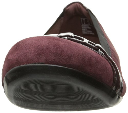 Clarks Mujeres Kinzie Light Loafer Flat Burgundy