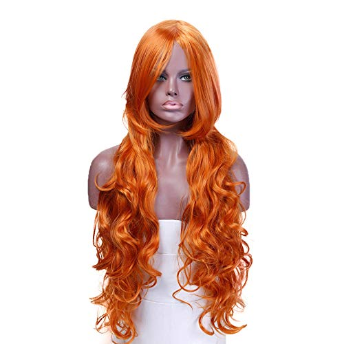 Long Wavy Wig Green Blue Purple Heat Resistant Synthetic Hair Costume Halloween Party Cosplay Wig]()