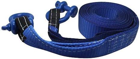 DiversityWrap 7t de remorquage Sangle Heavy Duty Corde de remorquage Sangle de remorquage Treuil de 4/x 4/Offroad avec 2/x manilles Bleu